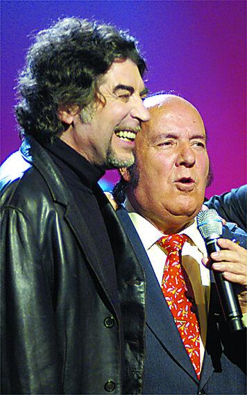 Joaquín Sabina y Chiquito  de  la  Calzada  coinciden en el  programa 'Buenas Noches, bienvenidos'
