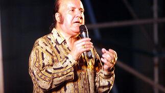 El malagueño durante una actuación en el Real de la Feria