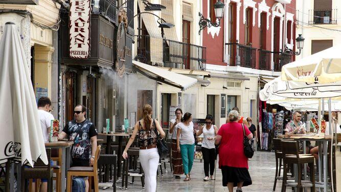 Restaurantes en la Plaza de la Romanilla.