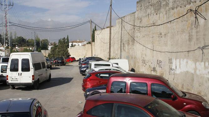 El parking que había en la muralla.