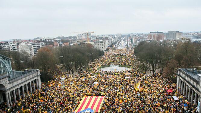 Cientos de personas en la marcha independentista