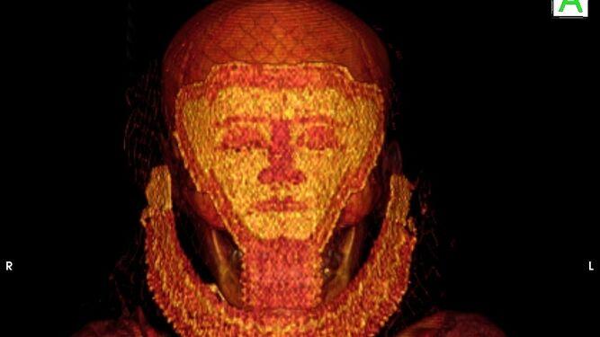 Imagen de la momia obtenida por escáner.