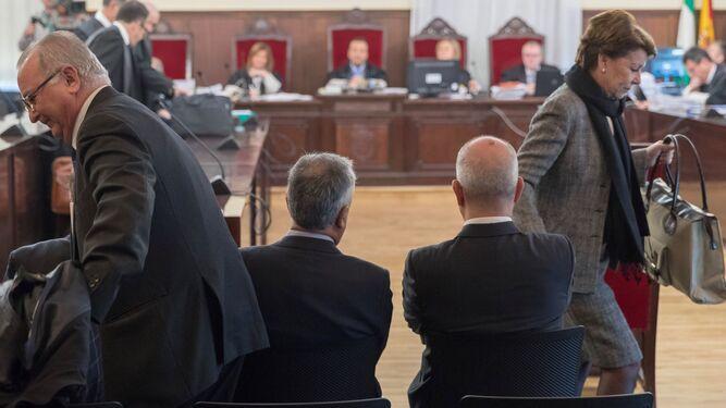 Imágenes del interior de la sala del juicio.