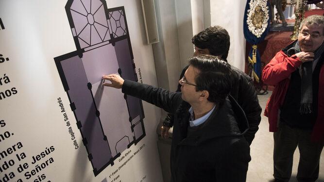 En la pared se ha explicado parte del proyecto de restauración.