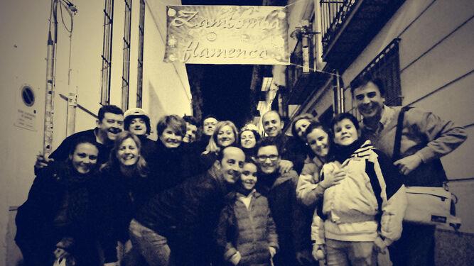 Foto de familia de La Zambomba de 'Sonriendo se puede ganar', una cita que este año será el 17 de diciembre.