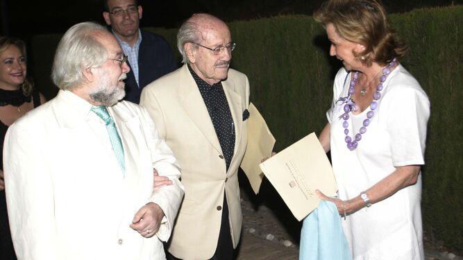 Junto a José Luis Vázquez, en el aniversario del fusilamiento de Lorca.
