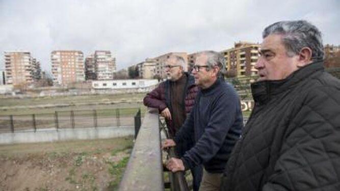 Francisco Rodríguez, Alberto García y Eugenio del Carpio, de la plataforma Marea Amarilla.