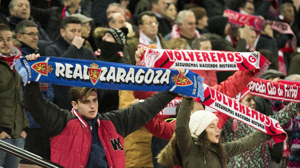 Las imágenes del Granada-Zaragoza