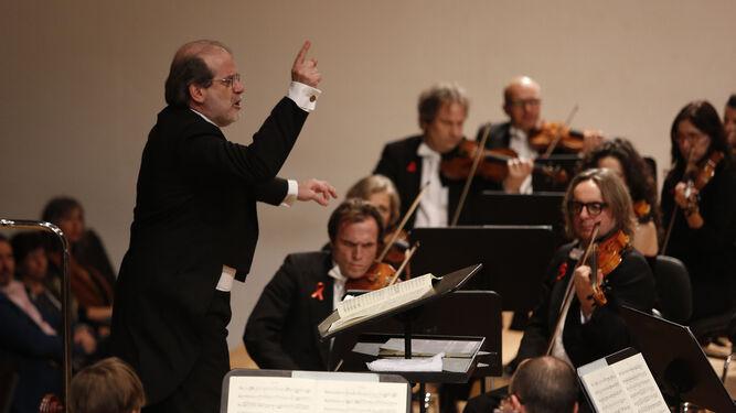 Marcon, en un momento del recital en el Auditorio Manuel de Falla.