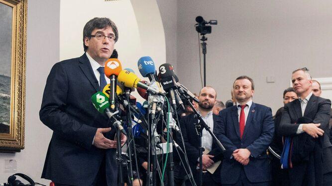 Carles Puigdemont comparece en el Parlamento danés.