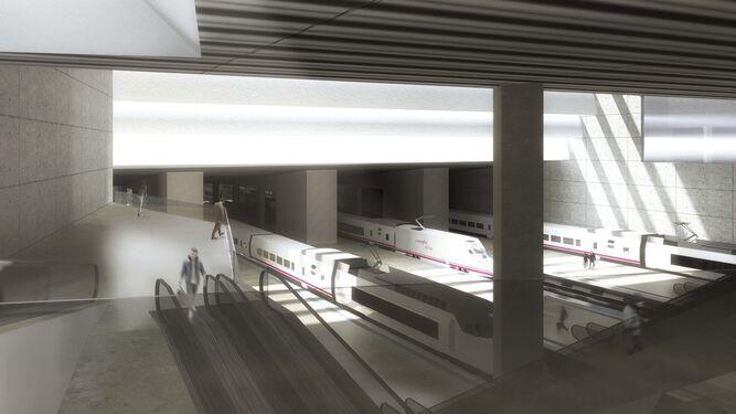La estación soterrada del AVE 'emerge' enel Camino de Ronda