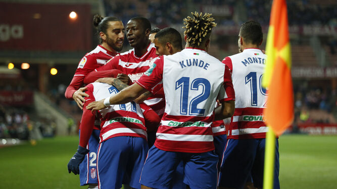 El Granada está más que acostumbrado a terminar sus partidos en casa esta temporada con una celebración.