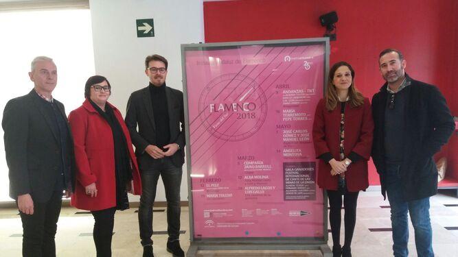 Presentación del ciclo Flamenco Viene del Sur, con la presencia del nuevo director del Alhambra, Enrique Gámez.