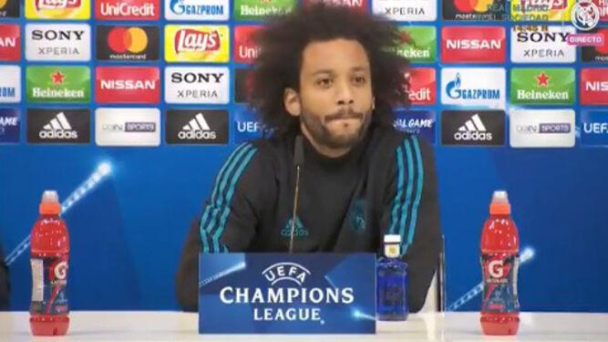 Marcelo, en la rueda de prensa en Valdebebas