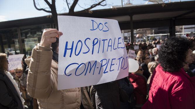 Se repitieron las consignas de dos hospitales completos.