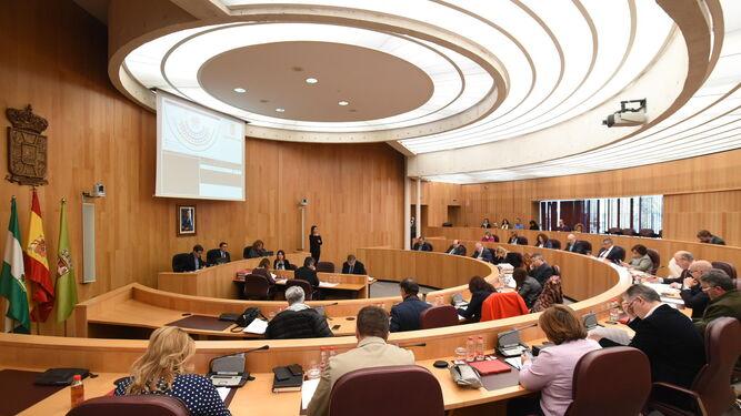 El pleno se celebró ayer en la sede de la institución provincial.