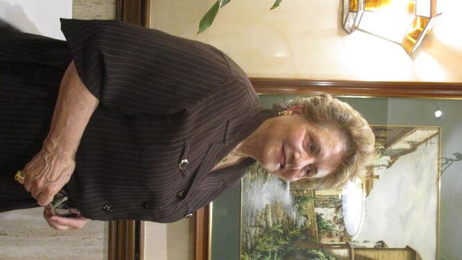 Mercedes Moll, en una reciente comida en el restaurante Las Tinajas.