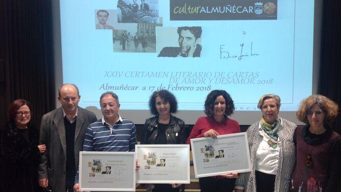 Acto de entrega de los premios del Certamen de Cartas de Amor y Desamor de Almuñécar.