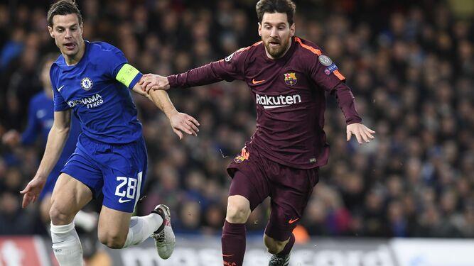 Messi en un momento del partido
