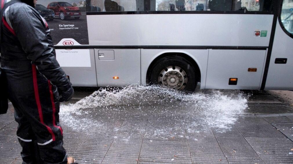 Las imágenes del temporal en Granada