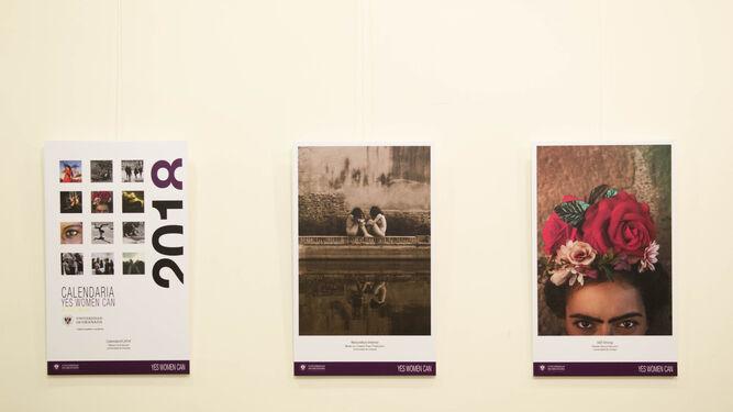 Algunas de las fotografias que pueden verse en la muestra 'Yes woman can'.