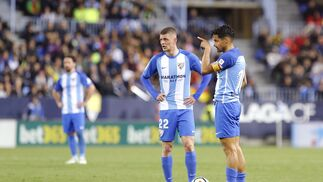 El Málaga CF-Barcelona, en imágenes