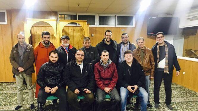 Algunos de los miembros de la comunidad musulmana de la ciudad.