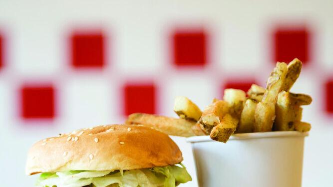 Una muestra del menú de Five Guys.