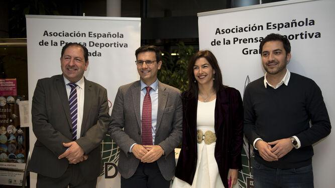 Antonio Rodríguez, Francisco Cuenca, María José Rienda y Eduardo Castillo.