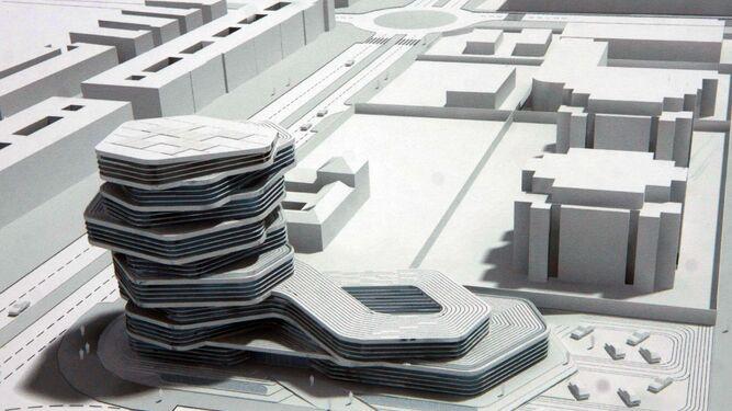 El edificio proyectado se iba a construir frente al Parque de Bomberos Norte.