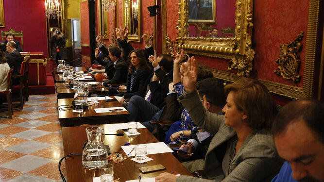 El grupo municipal popular votó a favor de la personación en un caso que afecta a una de sus concejales.