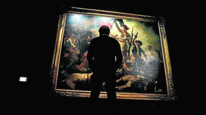 'La libertad guiando al pueblo', icono de la producción de Delacroix.