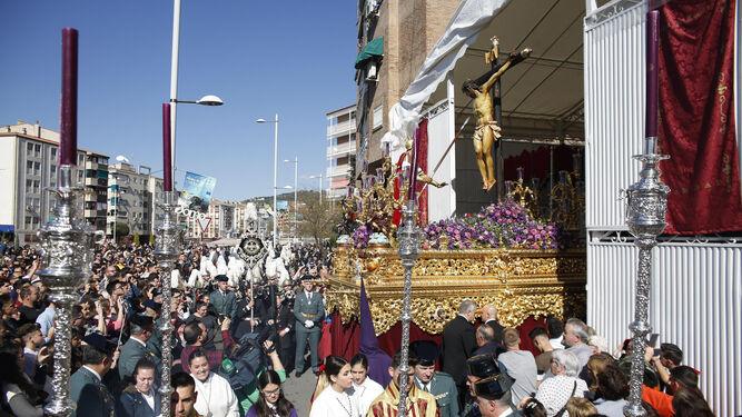 La 'Cañilla', a su salida de Santo Domingo.