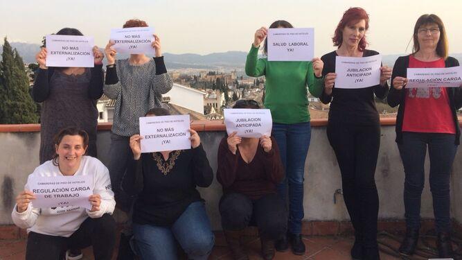 Imagen de una protesta del colectivo en Granada.