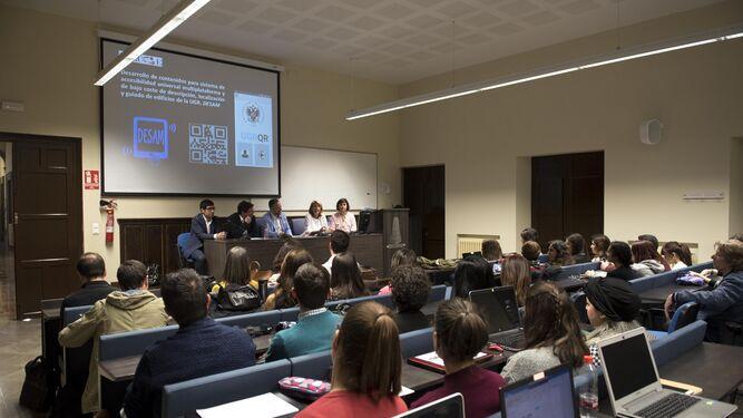 Acto de presentación de la app en la Facultad de Traducción e Interpretación de la UGR.