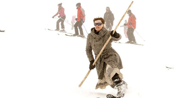 A pesar de la ropa los esquiadores parecían cómodos en el descenso.
