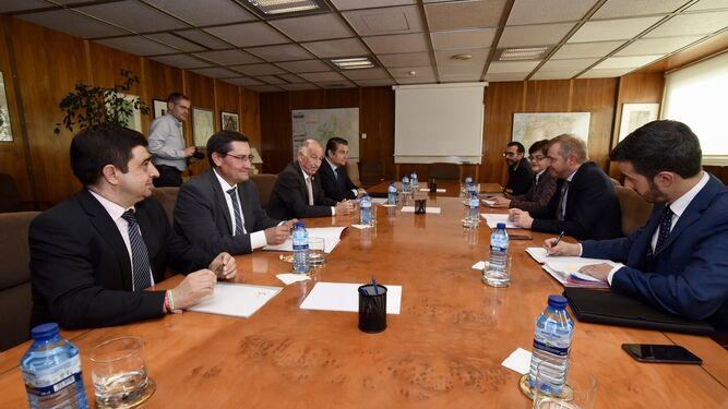 José Entrena, junto al resto de presidentes provinciales y el secretario de Estado de Energía.