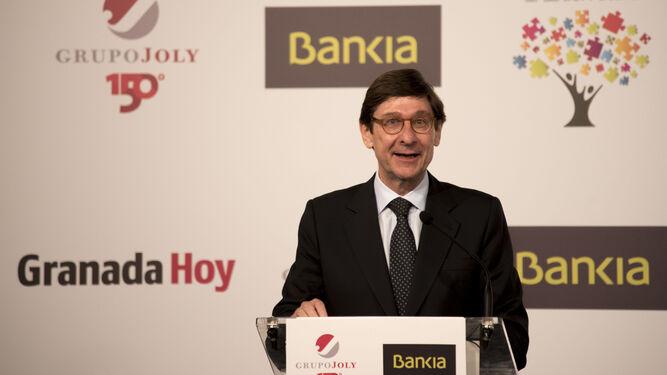 José Ignacio Goirigolzarri, durante su discurso.