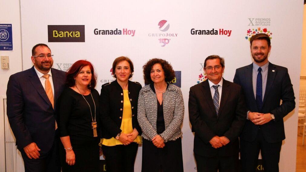 Germán González, Elvira Ramón, Sandra García, Pilar Aranda, José Entrena y Juan José Martín.