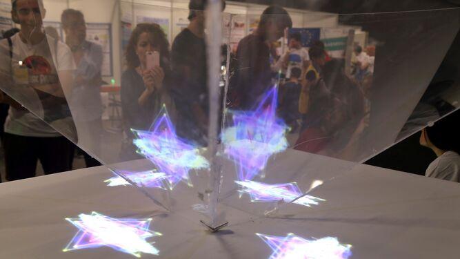 Una de las actividades en la 21 edición de la Feria de la Ciencia.
