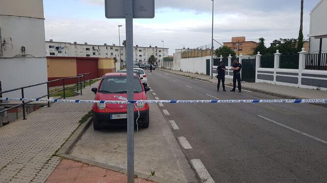 La zona en la que se produjo el incidente, en la barriada de La Piñera.