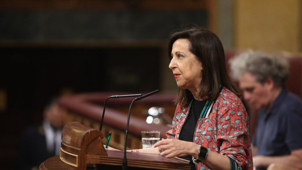 Margarita Robles, del PSOE, interviene en el debate.