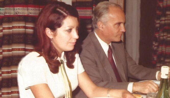 Amalia Jiménez con su maestro Vicente Salvatierra.