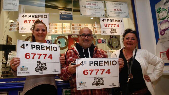 Sorteo Lotería Navidad en Granada Un cuarto premio, el 67774 ...