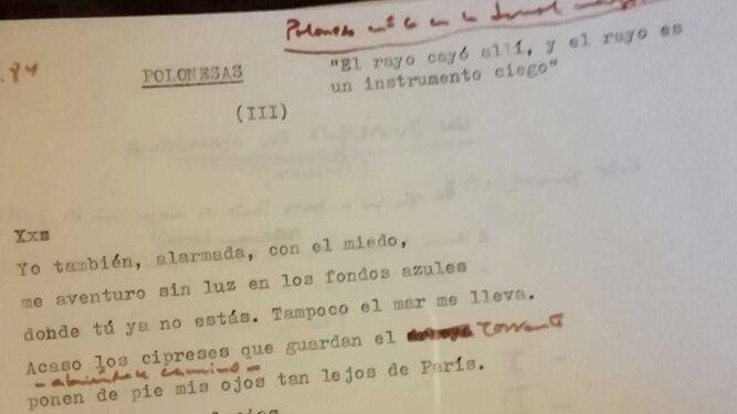 Unos de los manuscritos de Javier Egea, custodiado ahora por la UGR en su biblioteca del Hospital Real.