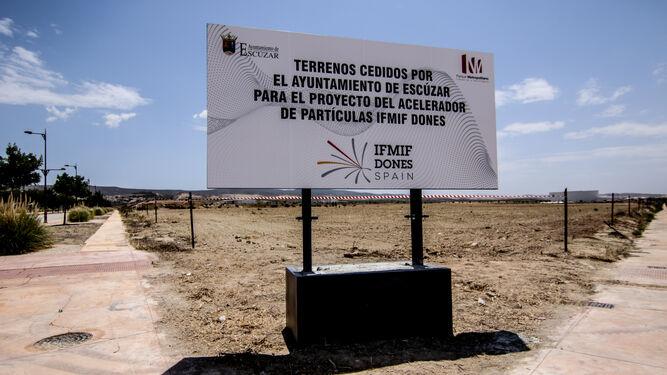 Terrenos de Escúzar donde se pretende construir el acelerador de partículas