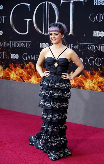 <p>Maisie Williams, de Miu Miu.</p>
