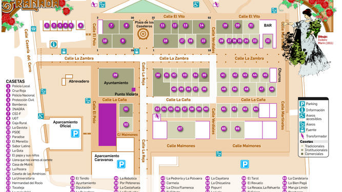 Mapa Feria Sevilla 2019.Consulte El Mapa Completo De Las Casetas Del Corpus De