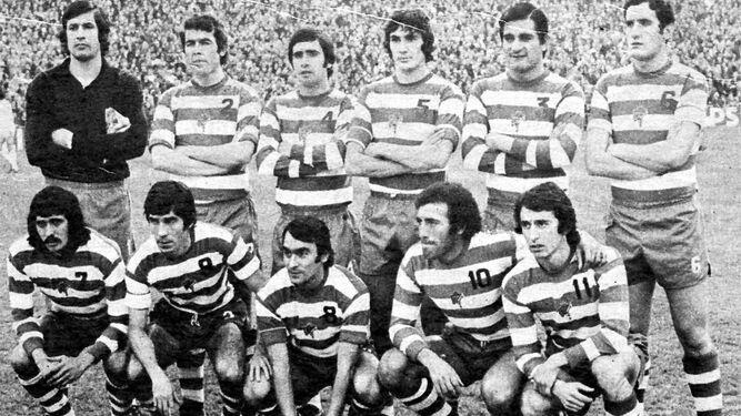Izcoa, Toni, Falito, Jaén, Aguirre, Castellanos, Escobar, Chirri, Lorenzo, Montero y Quiles, el once inicial que ganó en el Bernabéu