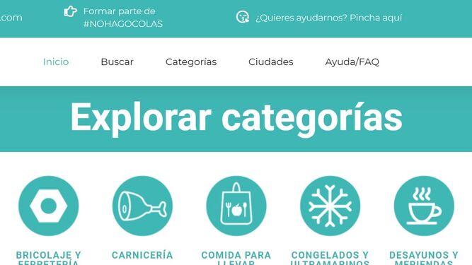 Imagen de la web de 'No hago colas'